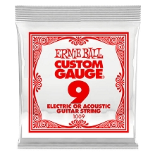 Ernie Ball Plain Steel Single Guitar String Electric or Acoustic .009p
