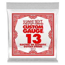 Ernie Ball Plain Steel Single Guitar String Electric or Acoustic .013p