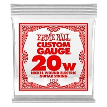 Ernie Ball Nickel Wound Single Electric Guitar String .020w