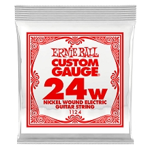 Ernie Ball Nickel Wound Single Electric Guitar String .024w