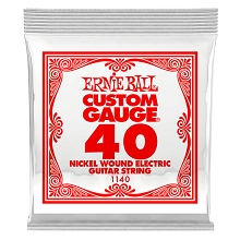 Ernie Ball Nickel Wound Single Electric Guitar String .040w