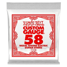 Ernie Ball Nickel Wound Single Electric Guitar String .058w