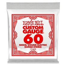 Ernie Ball Nickel Wound Single Electric Guitar String .060w