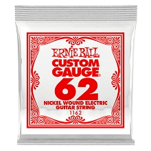 Ernie Ball Nickel Wound Single Electric Guitar String .062w