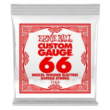 Ernie Ball Nickel Wound Single Electric Guitar String .066w