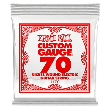 Ernie Ball Nickel Wound Single Electric Guitar String .070w