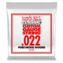Ernie Ball Pure Nickel Wound Single Electric Guitar String .022w