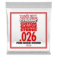 Ernie Ball Pure Nickel Wound Single Electric Guitar String .026w