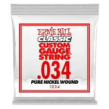 Ernie Ball Pure Nickel Wound Single Electric Guitar String .034w
