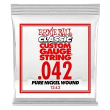 Ernie Ball Pure Nickel Wound Single Electric Guitar String .042w