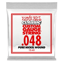 Ernie Ball Pure Nickel Wound Single Electric Guitar String .048w