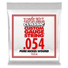 Ernie Ball Pure Nickel Wound Single Electric Guitar String .054w