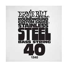 Ernie Ball Stainless Steel Round Wound Electric Bass Single String - Long Scale .040