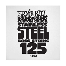 Ernie Ball Stainless Steel Round Wound Electric Bass Single String - Long Scale .125