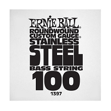 Ernie Ball Stainless Steel Round Wound Electric Bass Single String - Long Scale .100