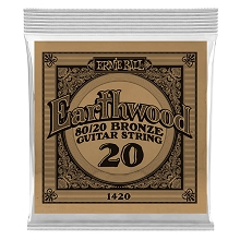 Ernie Ball Earthwood 80/20 Bronze Acoustic Guitar Single String .020w