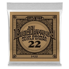 Ernie Ball Earthwood 80/20 Bronze Acoustic Guitar Single String .022w