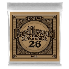 Ernie Ball Earthwood 80/20 Bronze Acoustic Guitar Single String .026w