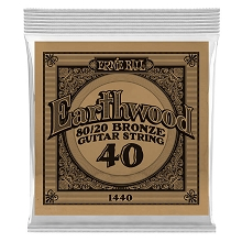 Ernie Ball Earthwood 80/20 Bronze Acoustic Guitar Single String .040