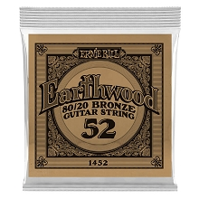 Ernie Ball Earthwood 80/20 Bronze Acoustic Guitar Single String .052