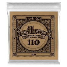 Ernie Ball Earthwood Phosphor Bronze Acoustic Bass Guitar Single String - Long Scale .110