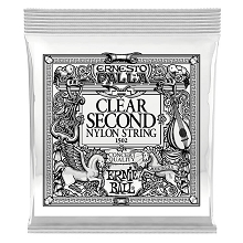 Ernie Ball Ernesto Palla Clear Nylon Classical Guitar Single - 2nd String .032
