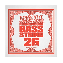 Ernie Ball Nickel Wound Slinky Electric Bass Single String - Long Scale .026w