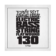Ernie Ball Flatwound Electric Bass Single String - Long Scale .130