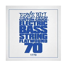 Ernie Ball Flatwound Electric Bass Single String - Long Scale .070