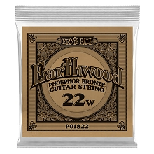 Ernie Ball Earthwood Phosphor Bronze Acoustic Guitar Single String .022w