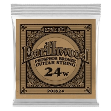Ernie Ball Earthwood Phosphor Bronze Acoustic Guitar Single String .024w