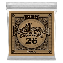 Ernie Ball Earthwood Phosphor Bronze Acoustic Guitar Single String .026w