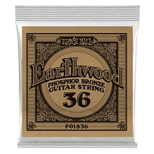 Ernie Ball Earthwood Phosphor Bronze Acoustic Guitar Single String .036