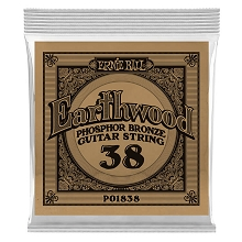 Ernie Ball Earthwood Phosphor Bronze Acoustic Guitar Single String .038