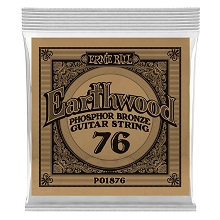 Ernie Ball Earthwood Phosphor Bronze Acoustic Guitar Single String .076