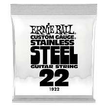 Ernie Ball Stainless Steel Wound Single Electric Guitar String .022w