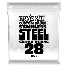Ernie Ball Stainless Steel Wound Single Electric Guitar String .028w