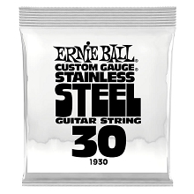 Ernie Ball Stainless Steel Wound Single Electric Guitar String .030w