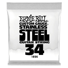 Ernie Ball Stainless Steel Wound Single Electric Guitar String .034