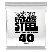 Ernie Ball Stainless Steel Wound Single Electric Guitar String .040