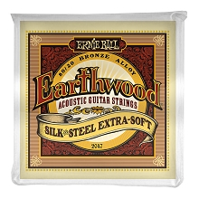 Ernie Ball Earthwood Silk and Steel 80/20 Bronze Acoustic Guitar String Set - 10-50 Extra Soft 2047