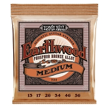 Ernie Ball Earthwood Phosphor Bronze Acoustic Guitar String Set - 13-56 Medium 2144