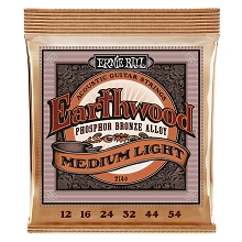 Ernie Ball Earthwood Phosphor Bronze Acoustic Guitar String Set - 12-54 Medium-Light 2146