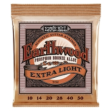 Ernie Ball Earthwood Phosphor Bronze Acoustic Guitar String Set - 10-50 Extra-Light 2150