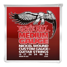 Ernie Ball Nickel Wound Custom Gauge Electric Guitar String Set - 13-56 Wound-3rd Medium 2204