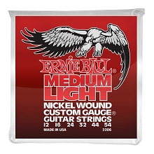 Ernie Ball Nickel Wound Custom Gauge Electric Guitar String Set - 12-54 Wound-3rd Medium-Light 2206