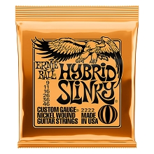 Ernie Ball Slinky Nickel Wound Electric Guitar String Set - 09-46 Hybrid Slinky 2222