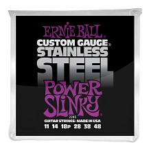 Ernie Ball Slinky Stainless Steel Wound Electric Guitar String Set - 11-48 Power Slinky 2245
