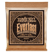 Ernie Ball Everlast Coated Phosphor Bronze Acoustic Guitar String Set - 13-56 Medium 2544