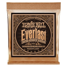 Ernie Ball Everlast Coated Phosphor Bronze Acoustic Guitar String Set - 12-54 Medium-Light 2546